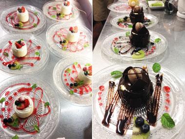 撮影教室のケーキ盛り付けサンプル画像