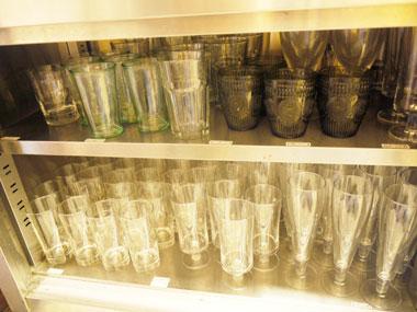 レンタルカフェのグラス類