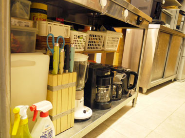 レンタルキッチンの包丁と調理機器