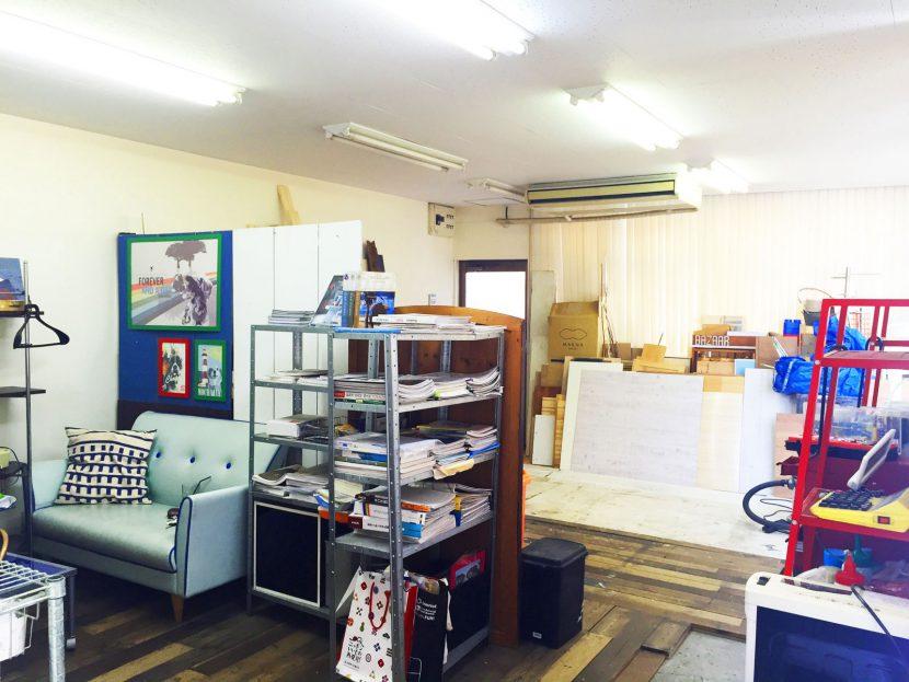 2階事務所工房はメイクルームや荷物置き場としてのご利用も可能